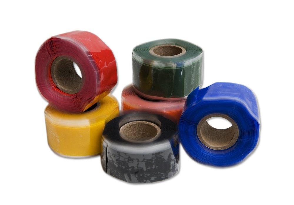 """Rescue Tape   Self-Fusing Silicone Tape   Emergency Pipe & Plumbing Repair   DIY Repairs   Seal Radiator Hose Leaks   Wrap Electrical Wires   1"""" X 12'   Silicone Rubber (Variety 12-Pack)"""