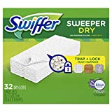 Swiffer Sweeper Dry Sweeping Cloths, Febreze Fresh Scent Lavender Vanilla & Comfort, 32-Count Boxes (Pack of 3)