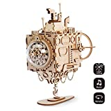 ROBOTIME Submarine Music Box - Adults Model Kits -Laser Cut Wooden Puzzle 3D-Jigsaw Toys for 8, 9, 10, 11 Year Old Boys and Girls-DIY Woodcraft Construction Kit-Model Gift for Adults