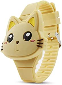 MINILUJIA Girls Digital Watch Cute Rabbit Cat Clamshell Design Led Watch