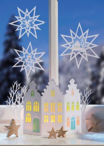 Weihnachtliche Fensterbilder Lichter Aus Transparentpapier