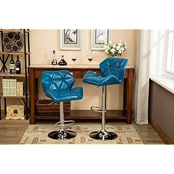 Amazon Com Zuri Furniture Teal Lush Adjustable Height