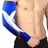 One Piece Muscle Compression Elbow Sleeve Sport Protective Supportor - GUARANTEED Recovery Brace - 4 Colors - USPS Post