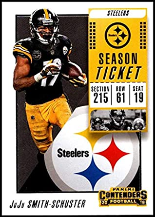 bc7e353f12c 2018 Panini Contenders Season Tickets  18 JuJu Smith-Schuster Pittsburgh  Steelers NFL Football Trading
