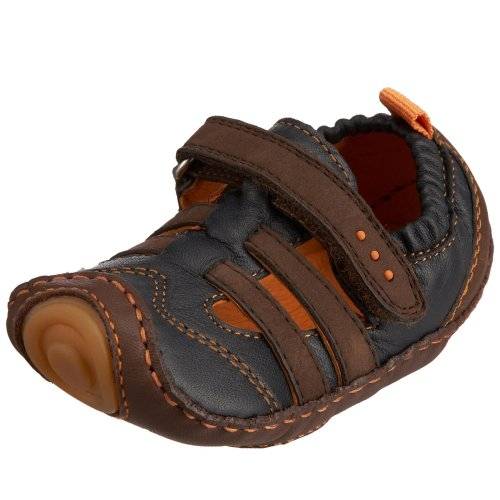 umi Sail Crib Shoe (Infant/Toddler),Chocolate/Navy,17 EU (US Infant 2.5-3 ()