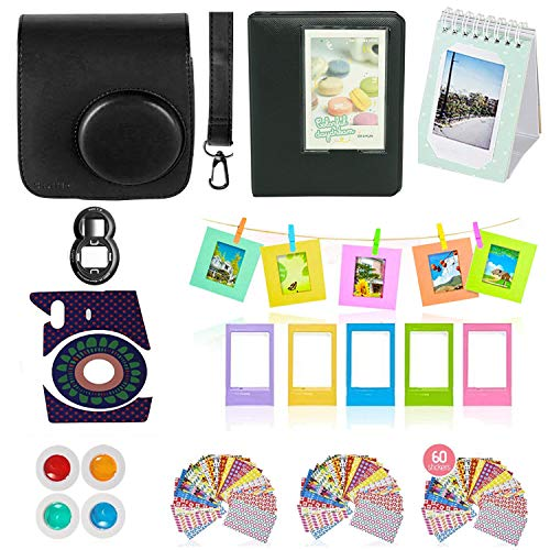 Fujifilm Instax Mini 9 or Mini 8 Instant Camera Accessories Bundle,11 Piece Gift Includes Instax Mini Case with Strap, Photo Albums, Filters, Selfie Lens, Hanging + Creative Frames, Stickers & More. from Shutter