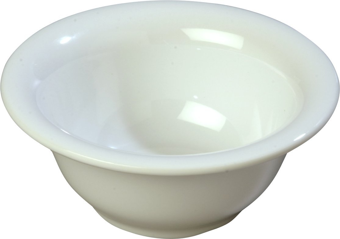 Carlisle 4303802 Durus Rimmed Melamine Nappie Bowl, 10 Oz, White (Pack of 24)