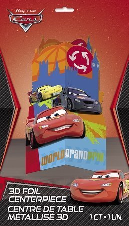 Disney Cars Centerpiece Decoration, 11.5