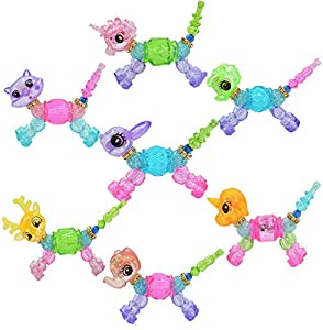 Magical Animal Twist Bracelet, 7 Pack DIY Make a Bracelet or Twist into a Pet Magic Bracelet Set ,Cute Transformable Collectible Bracelet Set for Kids Girls