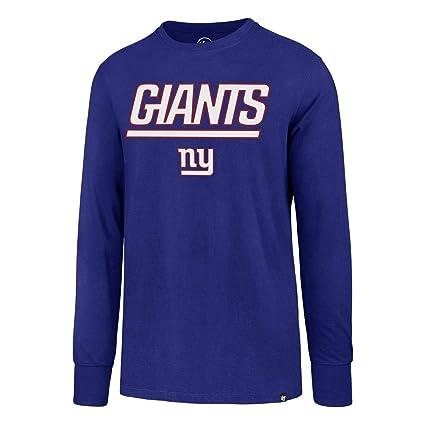 big sale 7e84e 89d0a Amazon.com : '47 New York Giants NY Long Sleeve Tee Pregame ...