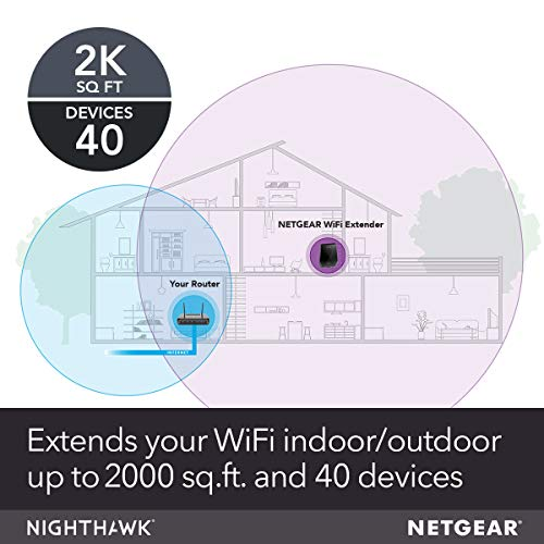 NETGEAR Wi-Fi Mesh Range Extender EX7700 - Coverage up to 2000 sq.ft. and 40 Devices with AC2200 Tri-Band Wireless Signal Booster & Repeater (up to 2200Mbps Speed), Plus Mesh Smart Roaming by NETGEAR (Image #1)