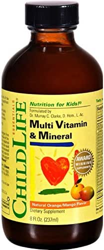 Childlife Essentials Multi Vitamin and Mineral Natural Orange/Mango Flavor, 8 ounce (Pack of 2)