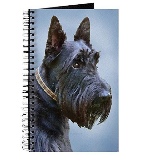 CafePress Black Scottish Terrier Spiral Bound Journal Notebook, Personal Diary, Task Journal (Terrier Journal)