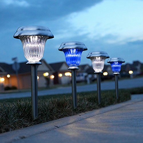 solar lights outdoor blue - 9