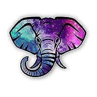 Vinyl Junkie Graphics Elephant Head Tie Dye Patterns Sticker