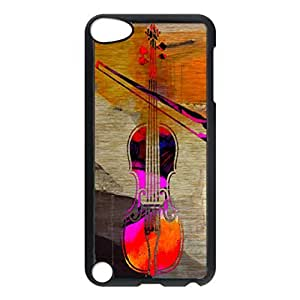 Violin And Bow Pattern Hard Durable Cover Case for Apple iPod 5th Generation