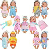 10pcs for 10-11-12 Inch Baby Doll Clothes Dress Reborn Newborn Doll Accessories Gown Costumes Outfits with Schoolbag Kitchen Toy Xmas Gift-wrap