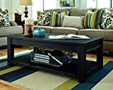 Black Rectangular Cocktail Table