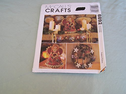 Uncut McCall's Christmas/holiday Craft Sewing Pattern 8892. Angels, Ornaments, Crazy Quilt Stockings (Pattern Star Ornament)