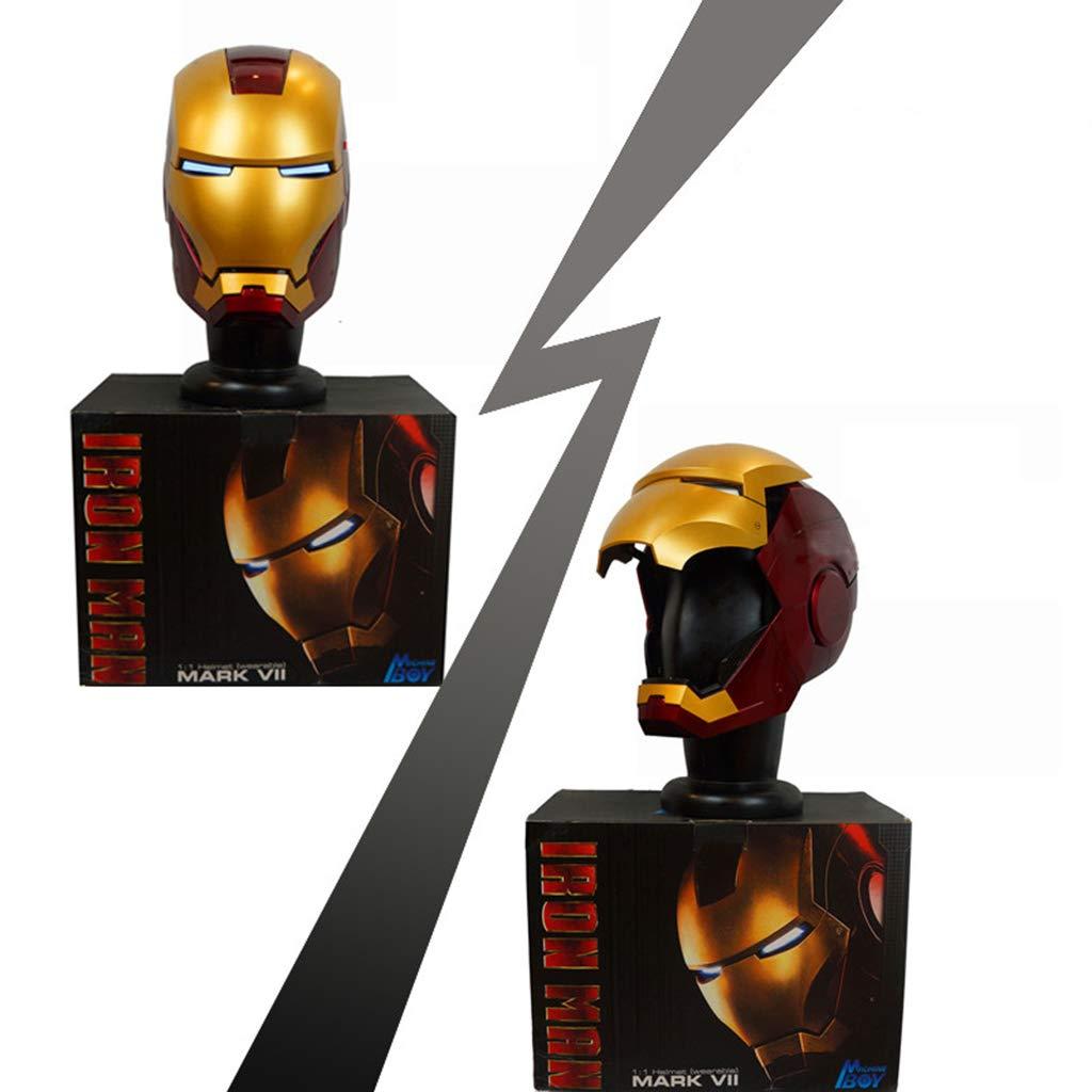 para mayoristas oro 60cm K-Flame Marvel Marvel Marvel Legends Iron Man Casco electrónico CosJugar de Halloween MásCocheas para Adultos Disfraces Novedad Accesorios Traje Prop - Uno,oro,60cm  alta calidad