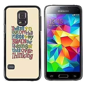 """Pulsar Snap-on Series Teléfono Carcasa Funda Case Caso para Samsung Galaxy S5 Mini ( NOT for regular S5 ) , Cita cerebro texto inteligente"""""""