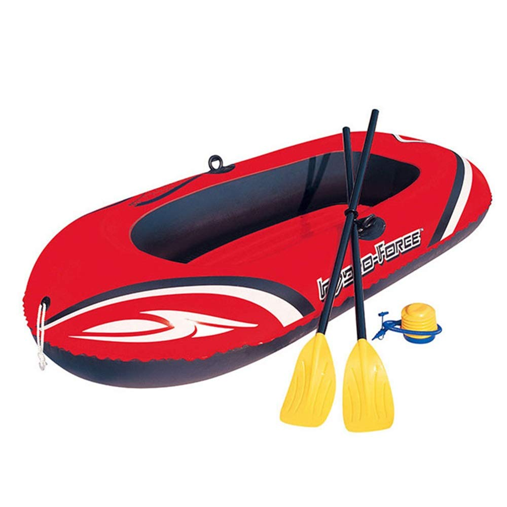 Double Inflatable Kayak Two Thicker Kayak Dinghy Inflatable Boat Hovercraft Inflatable Assault Boat Inflatable Boat Fishing Kayak Set (Color : Red, Size : 196114cm) by Teerwere-pht