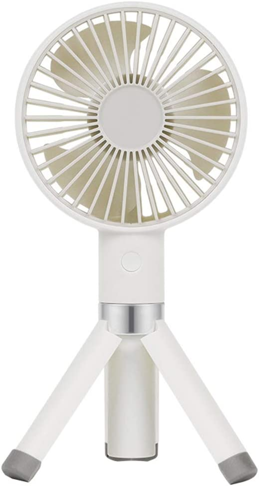 H/L Viaje USB Mini Ventilador De Mano, Escritorio Trípode Pequeños Ventiladores Portátiles con 30 ° Aspa del Ventilador Ciclónico En Diagonal Y Se Lava Fácilmente De Recorrido,Blanco