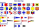 International Maritime Signal Flags - Set of 40 flag - Total 42 Flags – Nautical / Maritime / Marine / Boat / Ship / Vessel / Nautical Décor (5114)