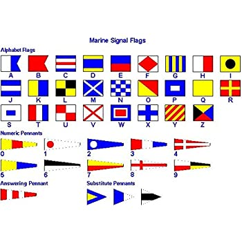 naval signal flags flag set set of total 40 flag marine code total 42 flag nautical maritime marine boat ship vessel nautical dcor