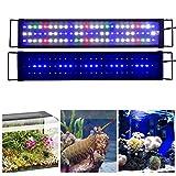 """KZKR Upgraded Aquarium Light LED Full Spectrum 24""""-32"""" Hood Lighting Lamp for Freshwater Marine Plant Fish Tank Decorations Light 60cm - 80cm"""