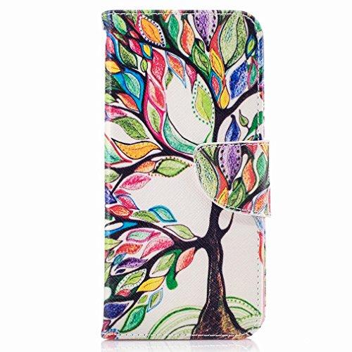 Yiizy Samsung Galaxy S8 Funda, Color Trees Diseño Solapa Flip Billetera Carcasa Tapa Estuches Premium PU Cuero Cover Cáscara Bumper Protector Slim Piel Shell Case Stand Ranura para Tarjetas Estilo