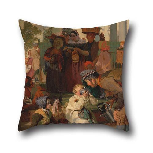 Pillowcase Of Oil Painting Robert Hannah - Refreshing The Weary,for Kids Room,play Room,father,wife,office,saloon 20 X 20 Inches / 50 By 50 Cm(each (How To Make A Saloon Girl Costume)