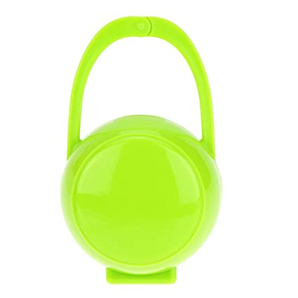 Caja de almacenamiento portátil para chupete, chupete, chupete, chupete, soporte para collectsound verde verde Talla:mediano