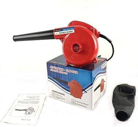CSPFAIQL Soplador Electrico 600W Soplador de Aire de Velocidad Variable Soplador Aspirador Volumen del Aire de 2.3 m³/h, 13000r / min - Rojo: Amazon.es: Deportes y aire libre