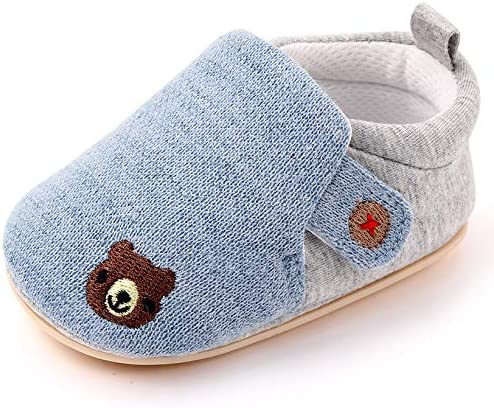 UniBaby7 Infant Baby Boys Girls Slippers Anti-Skid Sole Winter Snow Boots Newborn Toddler Prewalker Warm Booties Stay On House Walker Crib Shoes