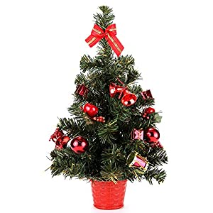 """Home-X 20"""" Instant Christmas Tree. Tabletop Decorated Pine Tree. 95"""