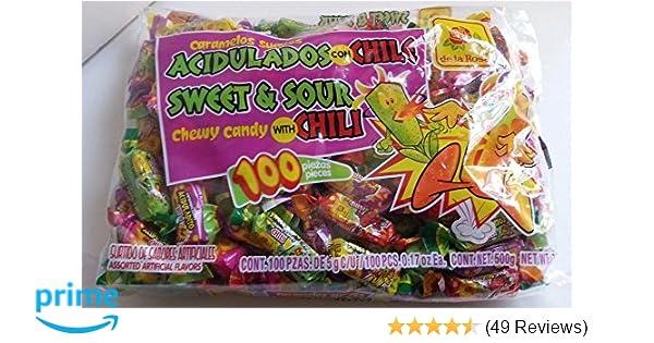 La Pulga De Las Vegas >> De La Rosa Caramelos Suaves Acidulados Con Chile Mexican Candy 100 Pcs 500g