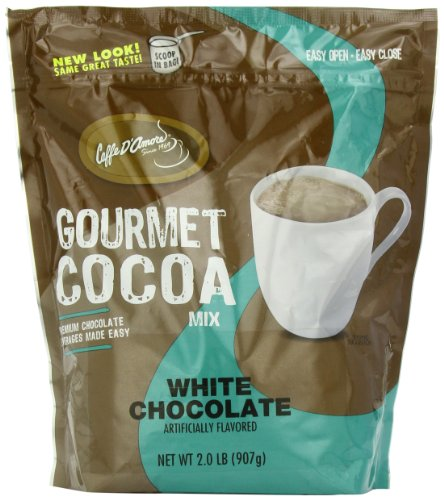 Caffe D'Amore Gourmet Cocoa Mix, White Chocolate, 2-Pound Package ()