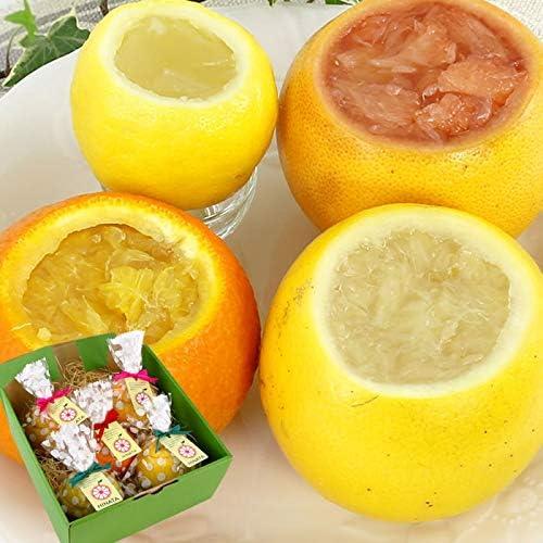 まるごと フルーツ ゼリー 5個セット (ピンクグレープフルーツ×2、ホワイトグレープフルーツ×2、レモン×1)