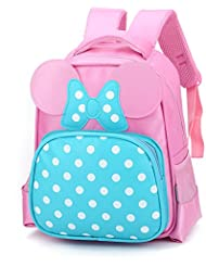 Lesley Ye Kids Backpack Carton School Cute Toddler Bags with Butterfly (Pink)