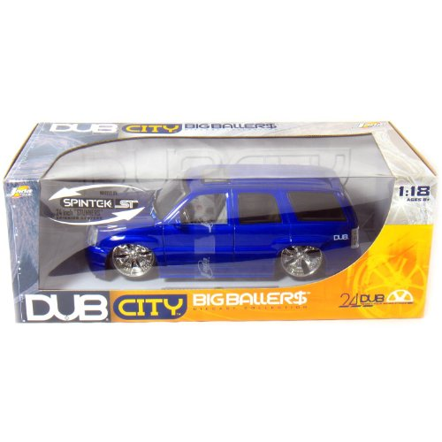 2002 Cadillac Escalade DUB 1/18 Metallic Blue
