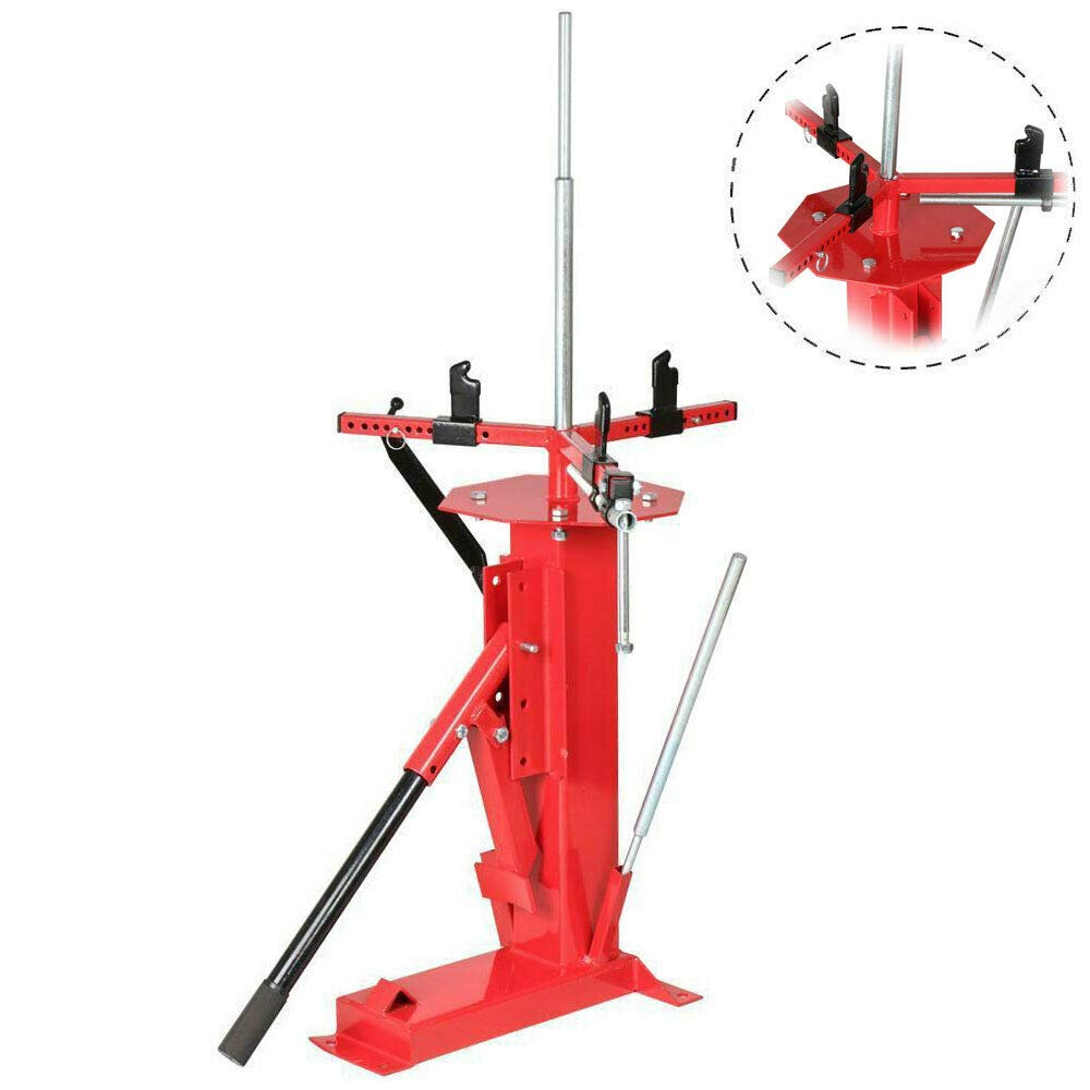 Roadstar MOTOOS Multifunctional Manual Tire Changer Fit for Cart Trailer Bike ATV Truck 4'' to 16-1/2'' Tires Steel Red by Roadstar