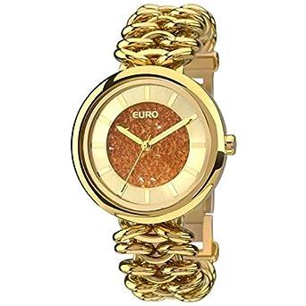 fd42e497a2a Relógio Feminino Euro Analógico Fashion Euy121e4aa 4d  Amazon.com.br ...