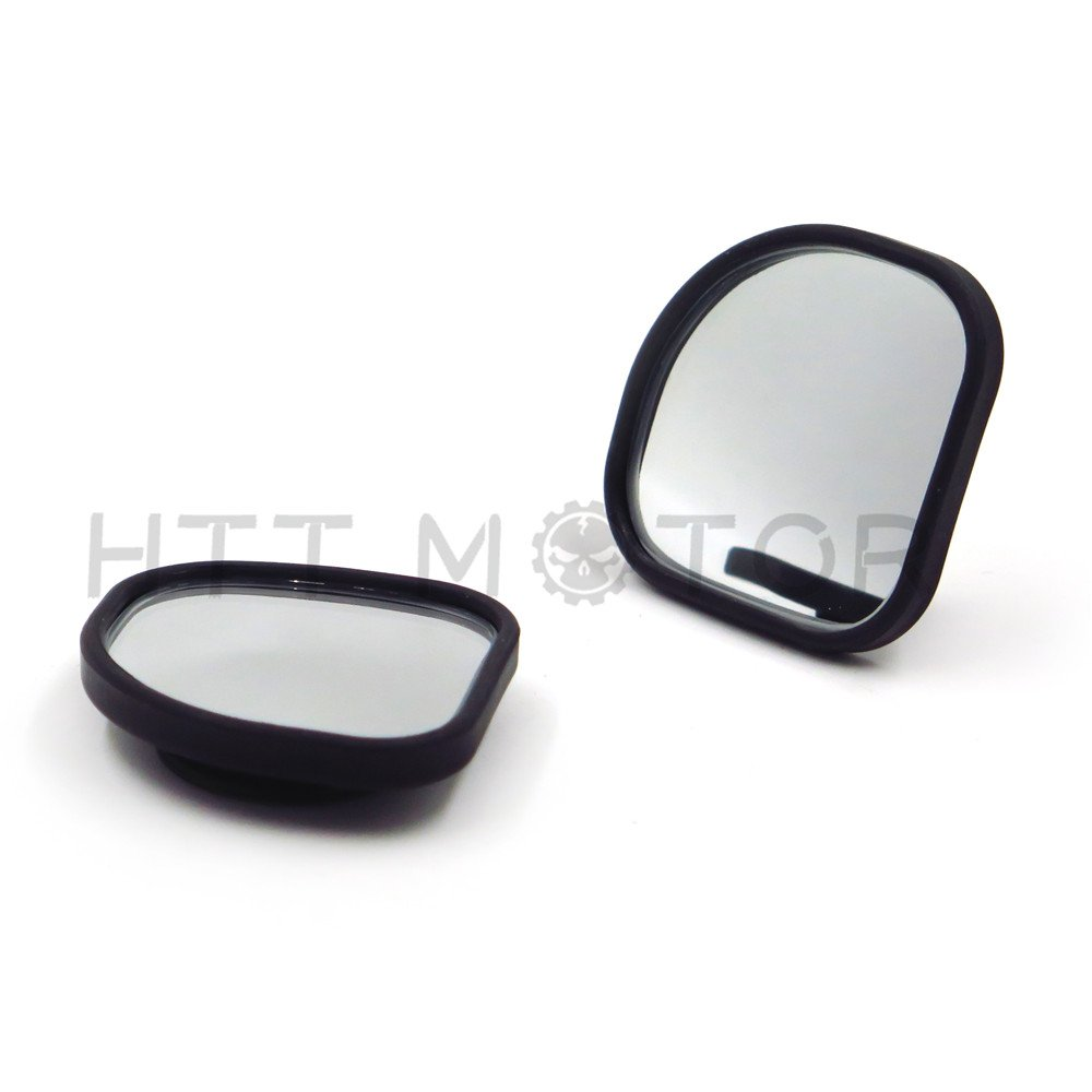 HTTMT 3R065-2x Fan Shaped 360/°Auto Car Blind Spot Round StickOn Side View Rearview Mirror
