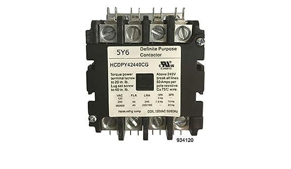 40 Amp 4 pole NEW CN-PBC404-120V Definite Purpose Contactor 120 V AC coil