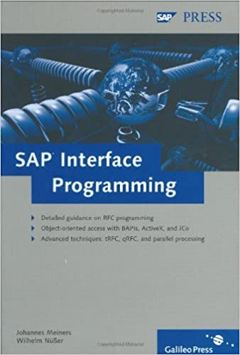 SAP Interface Programming: A comprehensive reference for RFC, BAPIs, ActiveX and JCo programming.Techniques: tRFC, qRFC, and parallel processing