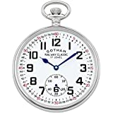 Gotham Men's Silver-Tone Mechanical Hand Wind Railroad Pocket Watch # GWC14103S