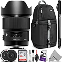 Sigma 20mm F1.4 ART DG HSM Lens for CANON EF DSLR Cameras w/Sigma USB Dock & Advanced Photo and Travel Bundle