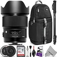 Sigma 20mm f/1.4 DG HSM Art Lens for NIKON F DSLR Cameras w/Sigma USB Dock & Advanced Photo and Travel Bundle