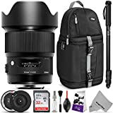 Sigma 20mm f/1.4 DG HSM Art Lens for NIKON F DSLR Cameras w/ Sigma USB Dock & Advanced Photo and Travel Bundle